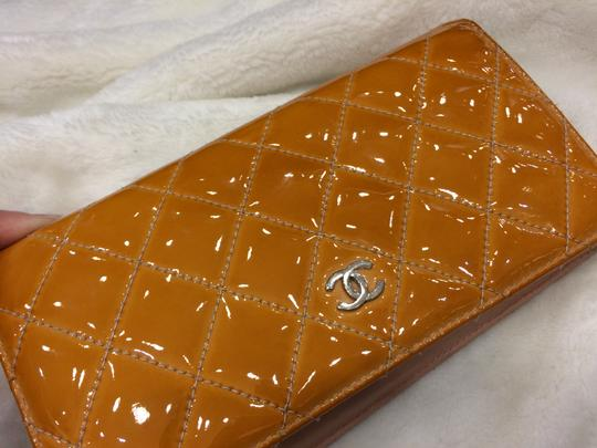 Chanel Chanel Wallet - Quilted Patent Leather - Orange