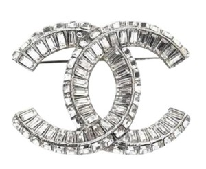 Chanel New!! Baguette Crystal CC Logo classic Brooch