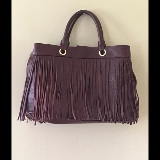 MILLY Tote in wine/Bordeaux