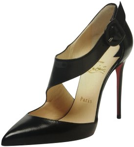 Christian Louboutin Sharpeta Cutout Pumps Heels Black Sandals