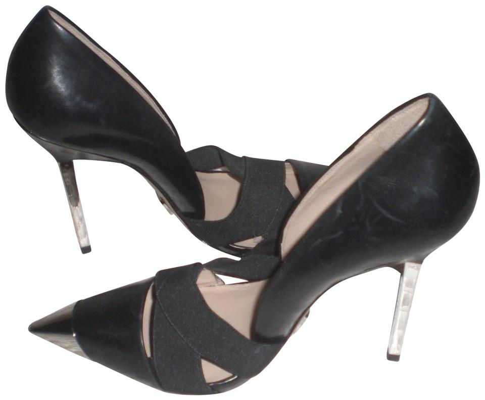 27c0ad070f Michael Kors Black Leather Pointed Toe Steel Heels Pumps. Size: EU 37.5  (Approx. US 7.5) Regular (M ...