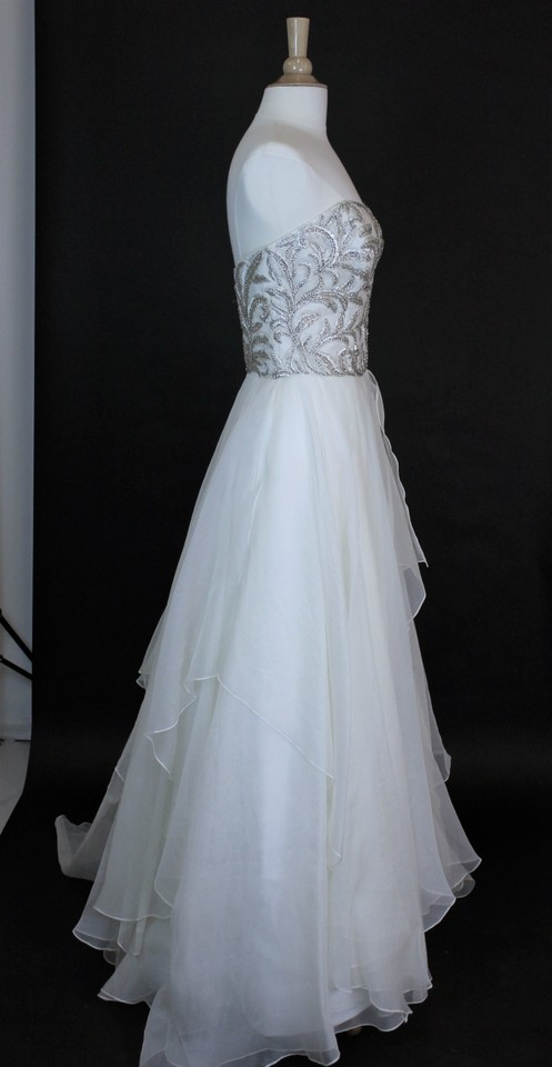 Watters Ivory Silk Organza Daniela 6072b Formal Wedding Dress Size ...