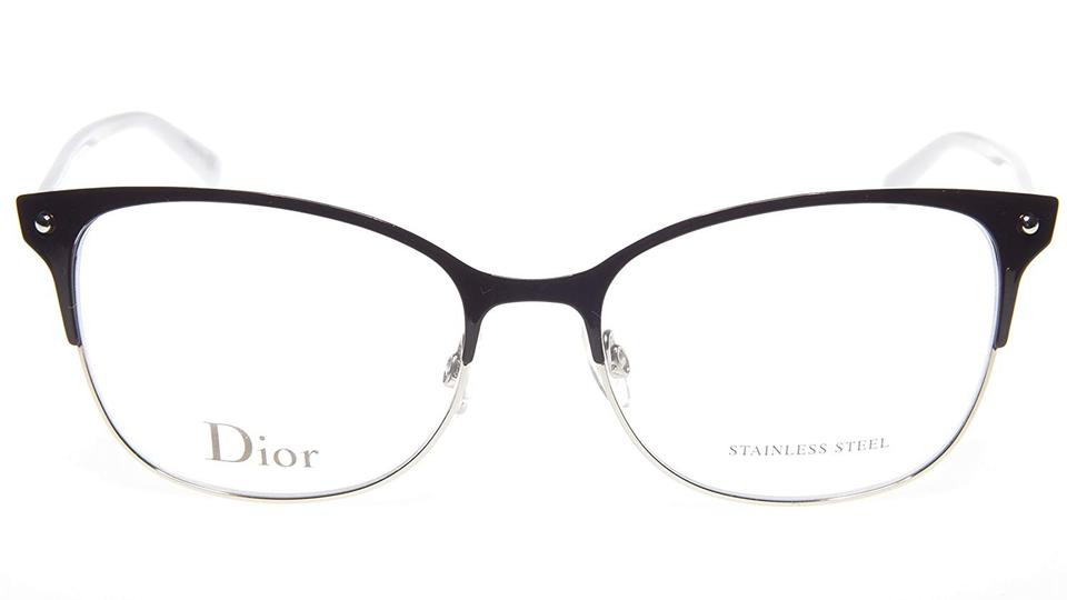 4097a47028f Dior NEW Dior CD3779 Black Matte Stainless Steel Cat Eye Frames Image 0 ...
