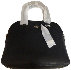 Kate Spade Cameron Street Cross Leathe Margot Satchel in Black