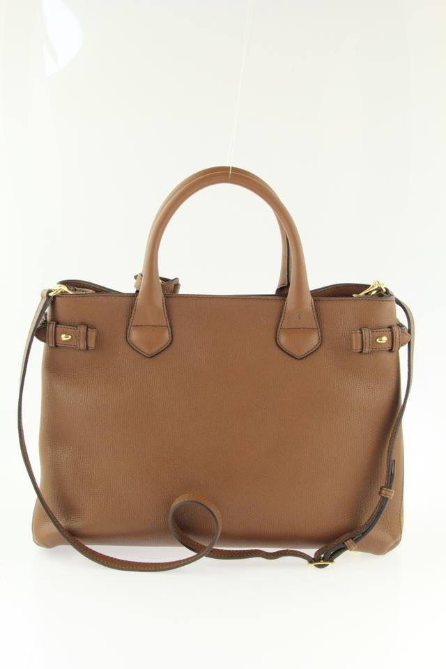 f4947f4c5a53 Burberry Medium Banner House Check Brown Leather Tote - Tradesy