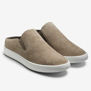 Vince Backless Sneakers Versatile Woodsmoke suede Athletic
