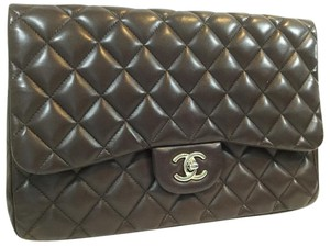 Chanel Chocolate Brown Quilted Lambskin Flap Shoulder Bag