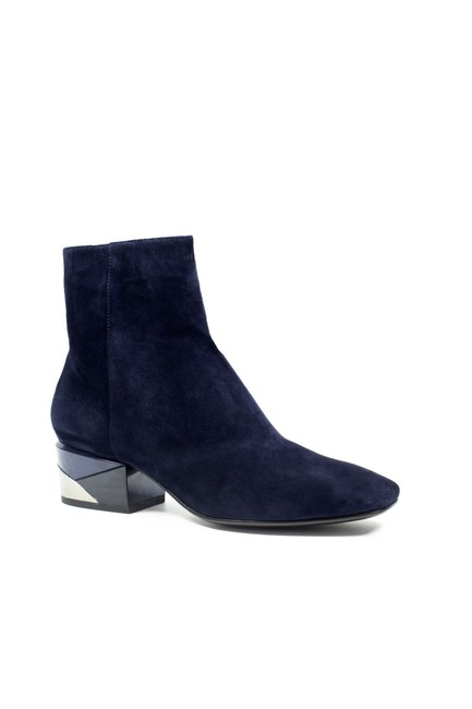 Item - Navy Orionia Heeled Suede Ankle with Color-blocking Sole Boots/Booties Size EU 38 (Approx. US 8) Regular (M, B)