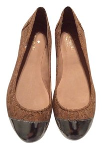 Kate Spade Tan and Silver Flats