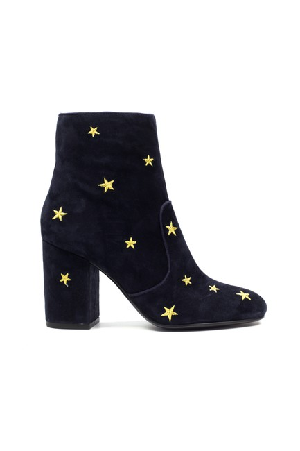 Item - Black Subra Embroidered Stars Ankle 6 Boots/Booties Size EU 36 (Approx. US 6) Regular (M, B)