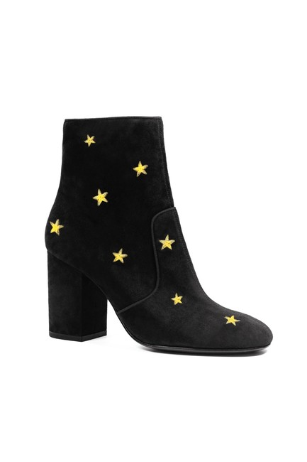 Item - Black Subra Embroidered Stars Ankle 8 Boots/Booties Size EU 38 (Approx. US 8) Regular (M, B)