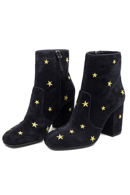 Item - Black Subra Embroidered Stars Ankle 9 Boots/Booties Size EU 39 (Approx. US 9) Regular (M, B)