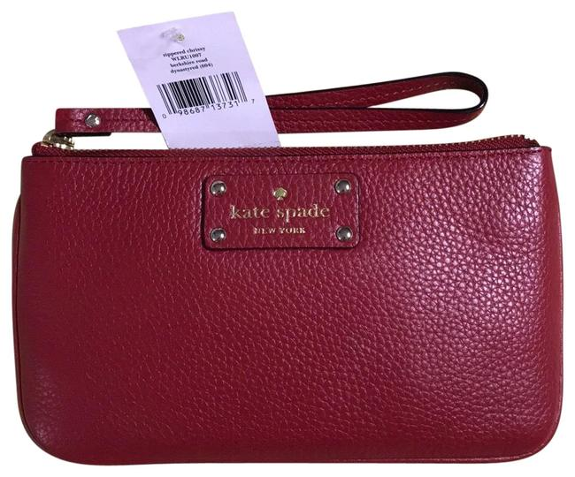Item - Red Leather Wristlet