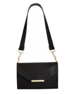INC International Concepts Leather Gold Cross Body Bag