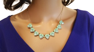 Lydell NYC Elegant-Lydell-NYC-Gold-Plated-Green-Blue-Resin-Necklace