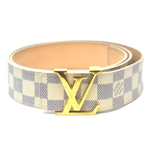 Louis Vuitton Louis Vuitton INITIALES 40mm Damier Azur Canvas Belt