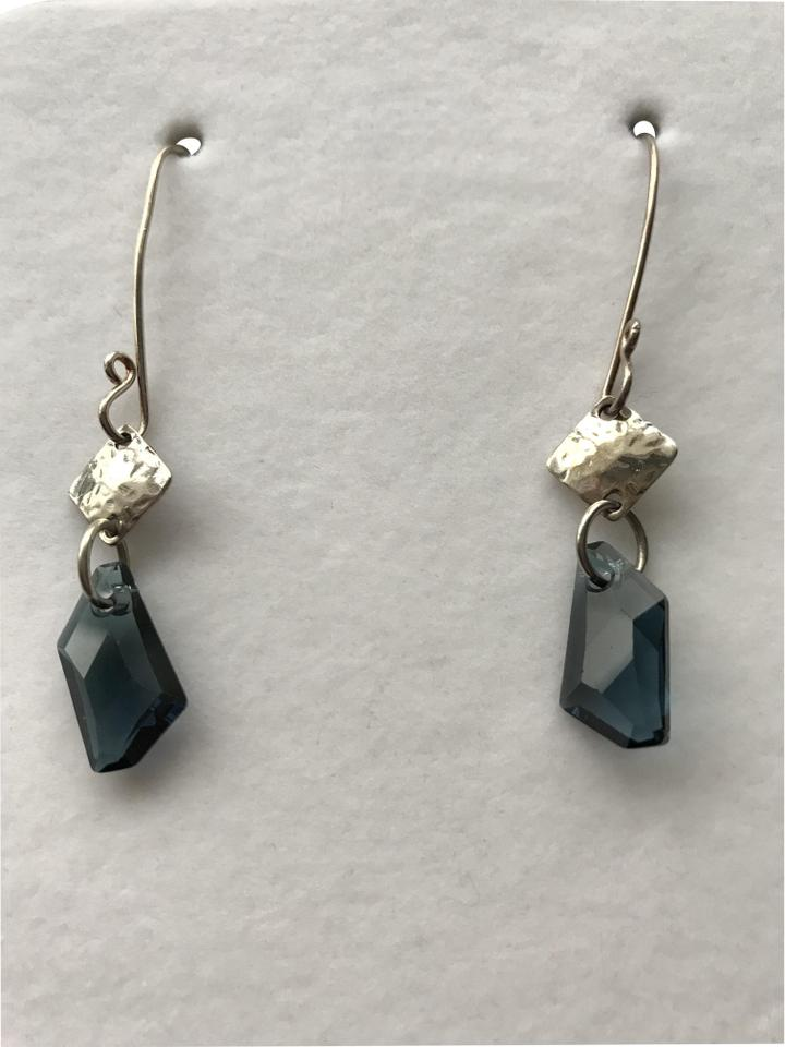 3fcf38c53dc25 Sterling Silver and Blue Stone Dangle Earrings