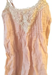 Mudd Top Light pink and White lace