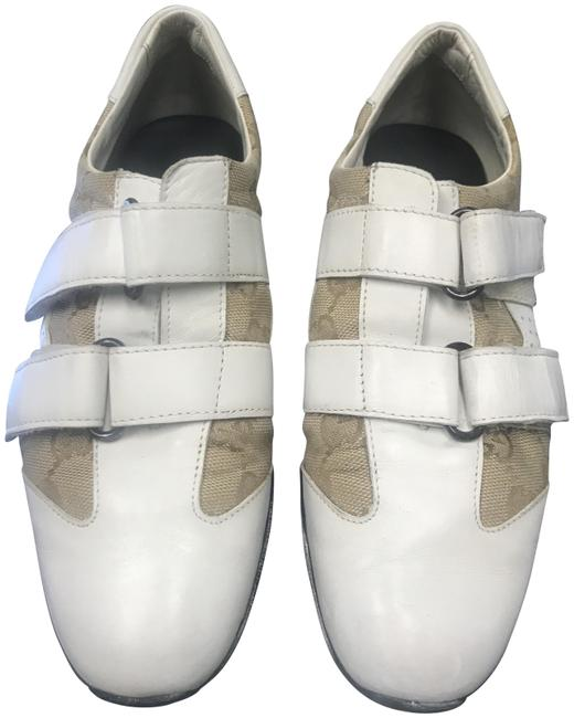 Item - White Monogram Genuine Leather Women Made In Italy Sneakers Size US 6 Narrow (Aa, N)