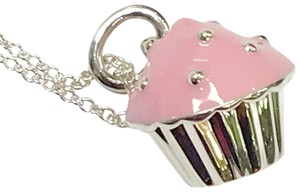 Tiffany & Co. EXTREMELY RARE!!! Tiffany & Co. Pink Enamel Cupcake Necklace