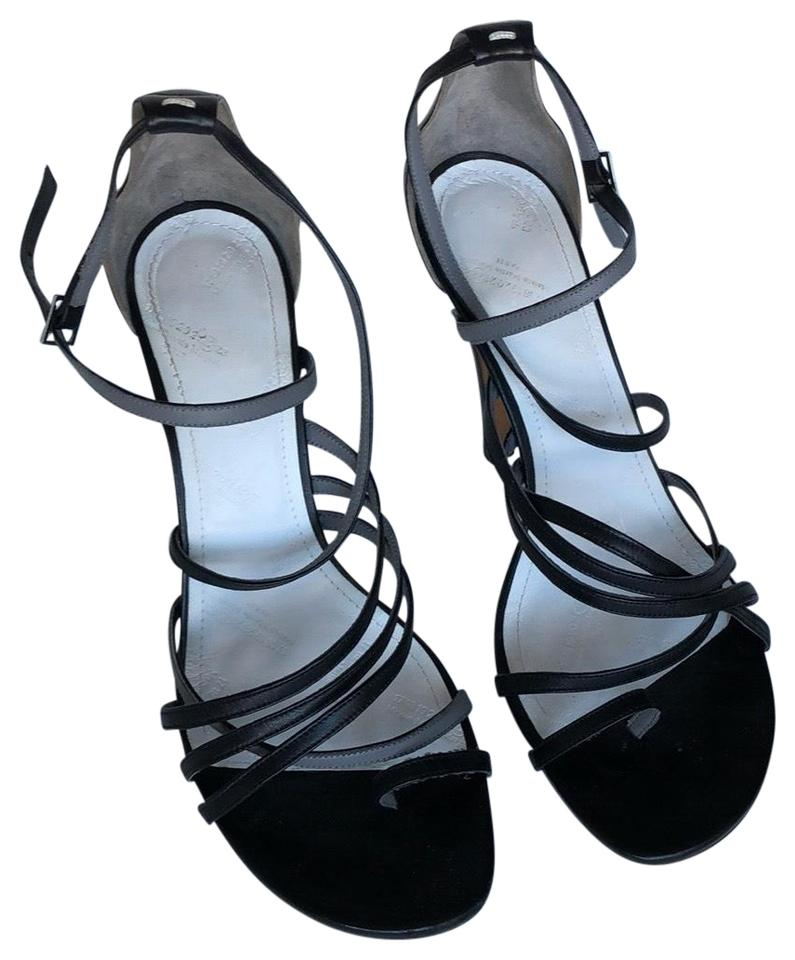 162ed90a2 Maison Margiela Black and Gray Strappy Sandals Size EU 38 (Approx ...