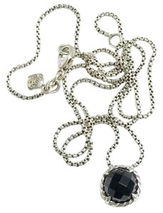"David Yurman David Yurman Black Onyx Faceted ""Chatelaine"" Necklace"