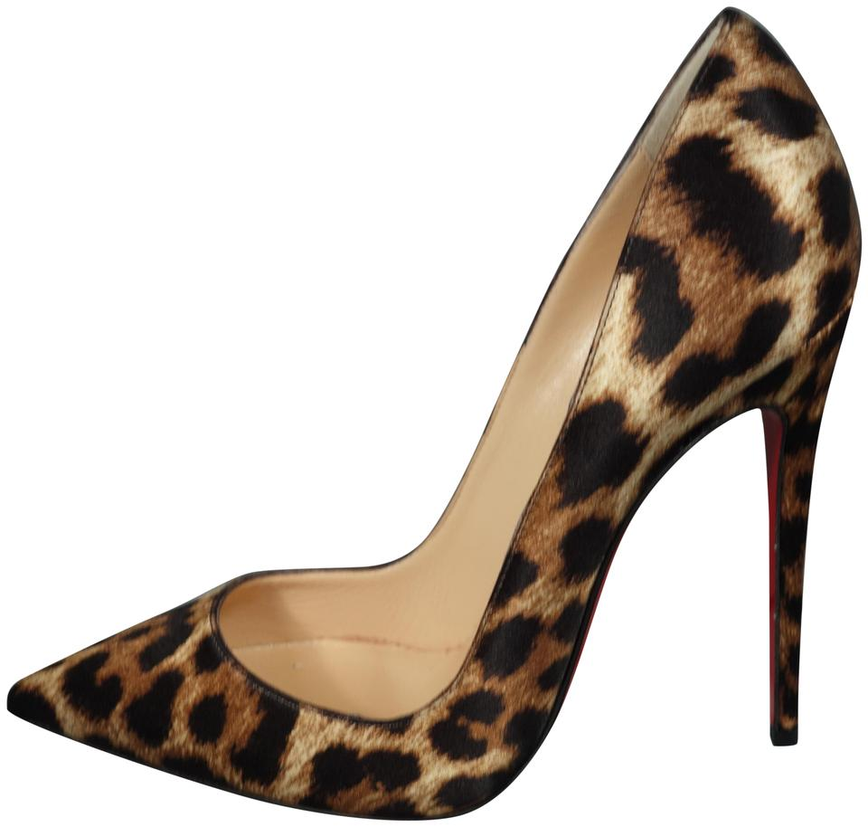 9fb54893ae8 Christian Louboutin Black Brown So Kate 120 Leopard Print Satin Point Heels  New Pumps Size EU 35.5 (Approx. US 5.5) Regular (M, B) 25% off retail