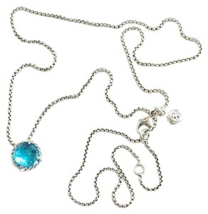 "David Yurman David Yurman Blue Topaz Faceted ""Chatelaine"" Necklace"