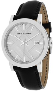 Burberry BRAND NEW Burberry Black Leather Men's Watch BU9008
