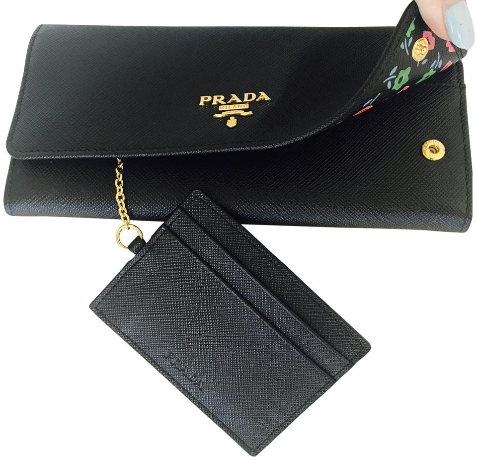 Prada Black Box Limited Edition Saffiano+st. Flowers New In 1mh132 Wallet f11c931355fb4