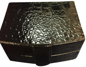 H&M H&M croc faux leather pink travel jewelry box case