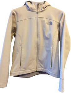 The North Face Water-resistant Windbreaker Hooded Off White Grey Jacket