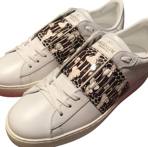 Valentino Sneakers Open Sneakers Snakeskin White Athletic
