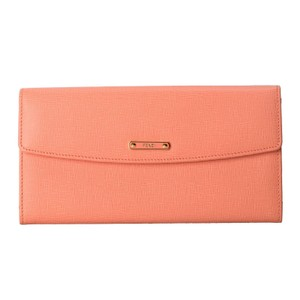 Fendi Fendi Women's Pink Saffiano Leather Continental Crayons Wallet