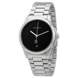 Gucci Gucci G-Timeless Black Dial Stainless Steel Mens Watch YA126460