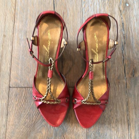 Vince Camuto Red, Gold Wedges Image 2