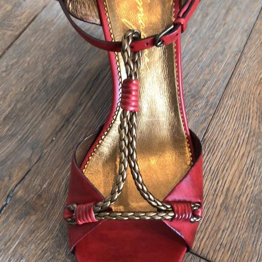 Vince Camuto Red, Gold Wedges Image 7