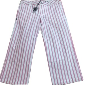 Volcom Capris PINK & WHITE STRIPES