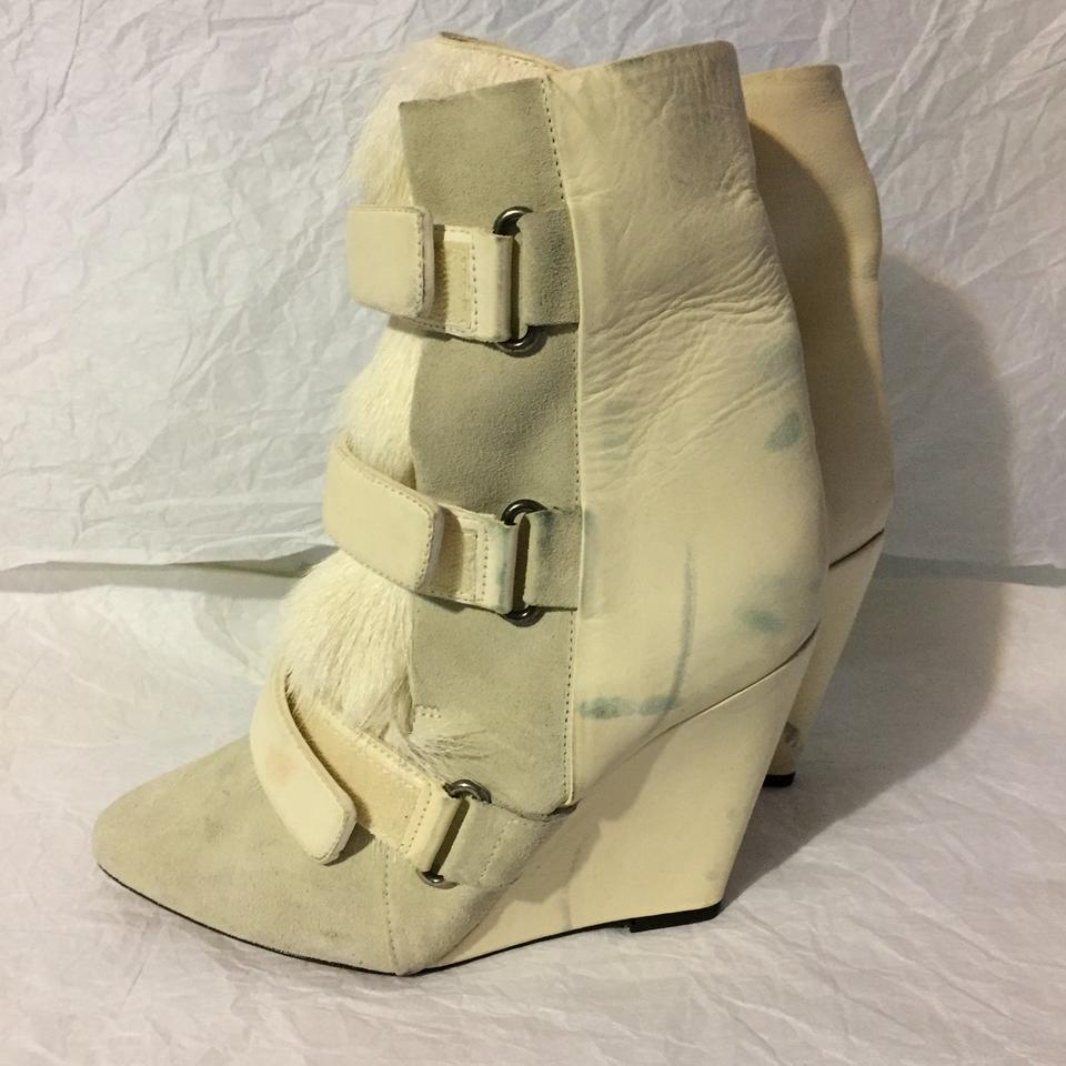 Boots Isabel Booties Marant White Scarlet RxxwUzvZ