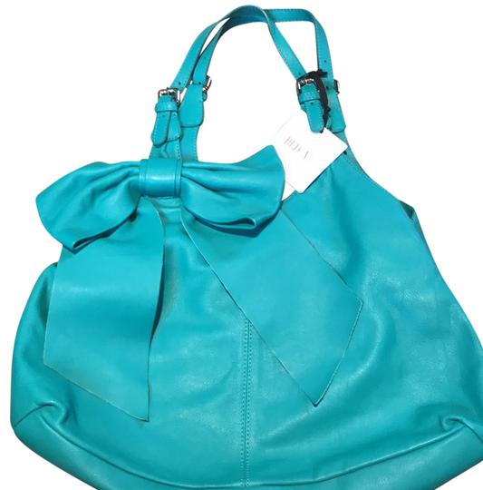 Preload https://img-static.tradesy.com/item/22703191/red-valentino-large-bow-purse-turquoise-leather-tote-0-1-540-540.jpg