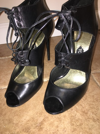 Tom Ford Heels Caged Black Boots Image 1