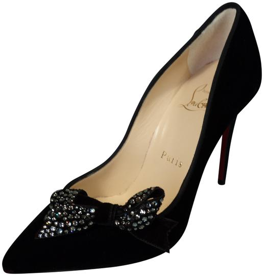 Preload https://img-static.tradesy.com/item/22703343/christian-louboutin-black-madame-menule-100-velvet-crystal-bow-heels-evening-new-pumps-size-eu-355-a-0-1-540-540.jpg