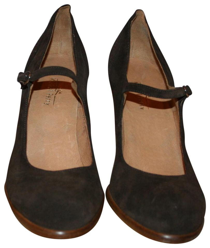 Michel Perry In Brown Suede Hell Made In Perry Italy 39.5 Pumps 48c65a