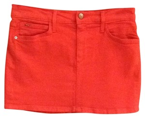 JOE'S Jeans Denim Skirt Red