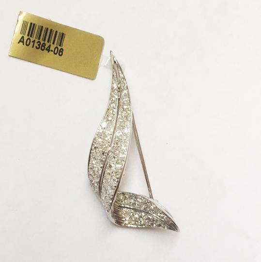 Diamondsy STEAL Lots of diamonds-2.5 carats diamond & 14k white gold pin/pendant Image 1