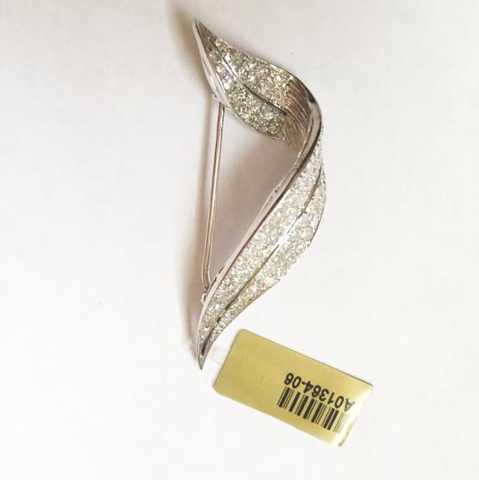 Diamondsy STEAL Lots of diamonds-2.5 carats diamond & 14k white gold pin/pendant Image 5