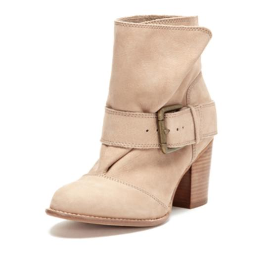 Splendid Suede Buckle Stylish Harness tan Boots Image 1