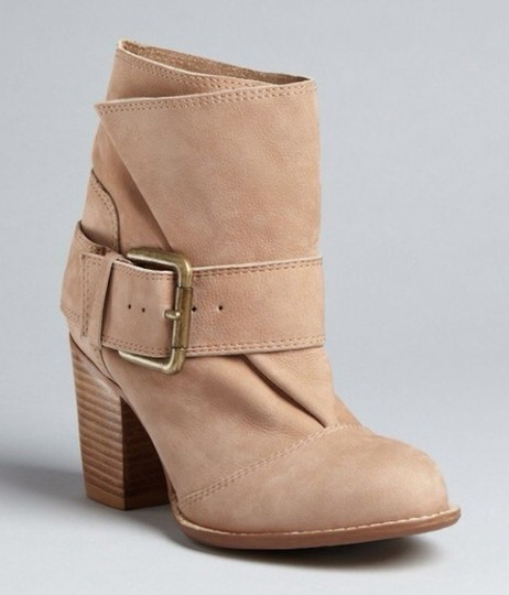 Splendid Suede Buckle Stylish Harness tan Boots Image 2