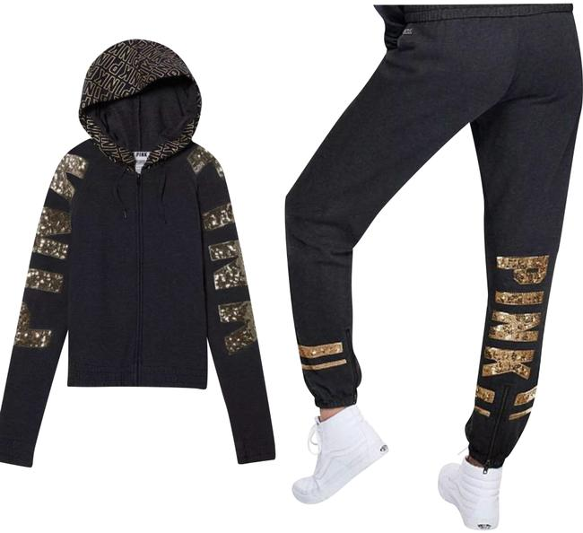 Preload https://img-static.tradesy.com/item/22703728/charcoal-greygold-sequins-perfect-hoodie-and-pants-activewear-size-8-m-0-1-650-650.jpg