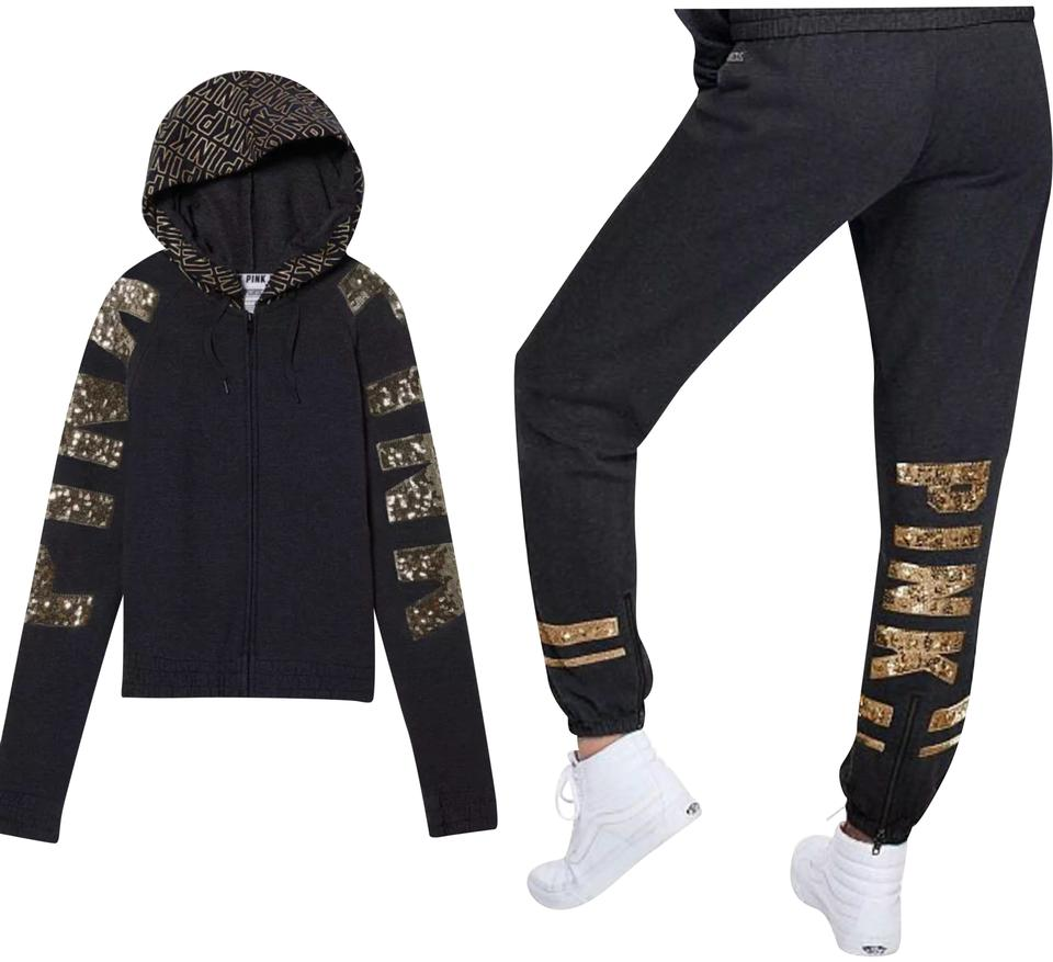 3ef22f1a62d1d0 Charcoal Grey/Gold Sequins Perfect Hoodie & Pants Activewear Size 8 ...